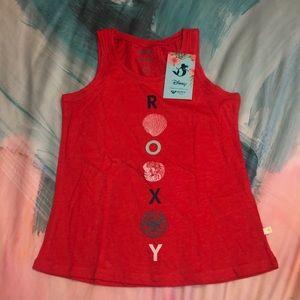 Roxy Disney Girl tank Top red size 10